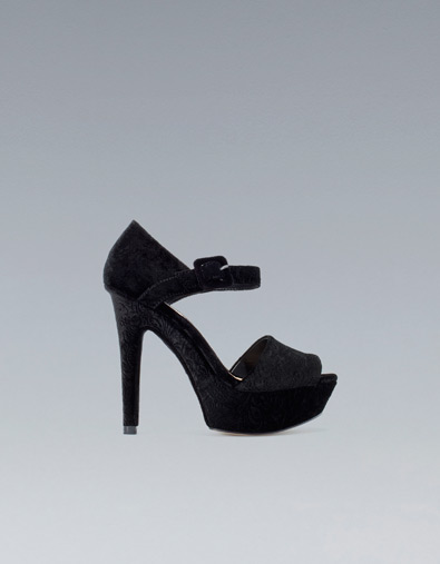 Zara velvet sandals