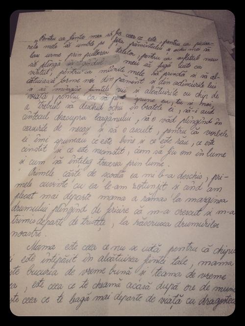 Scrisoare pentru mama p1