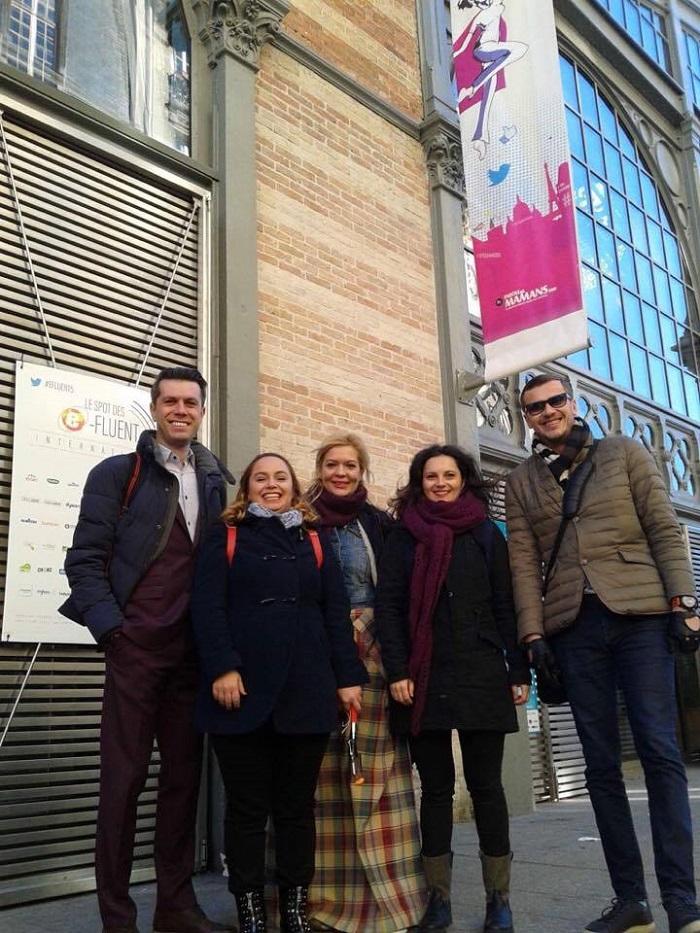 O parte din #TeamRomania. De la stânga la dreapta: Daniel Osmanovici, Cristina Ologeanu, Ana Maria Mitruș, Ana Nicolescu, Dan Cruceru